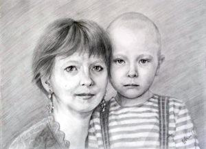 Наталья с сыном Федей